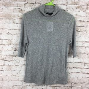 Topshop High Neck Soft Gray Top NWT NEW
